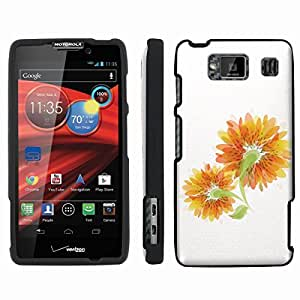 [ArmorXtreme] Designer Image Shell Cover Hard Case (Abstract Flower Yellow White) for Motorola DROID RAZR HD XT926