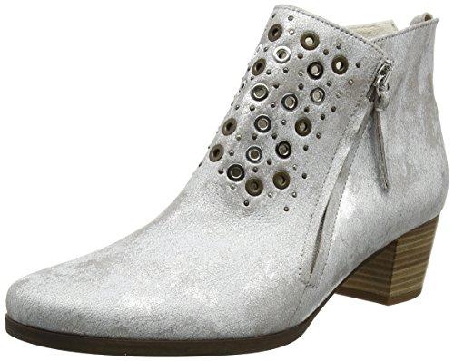 Gabor Shoes Comfort, Botines para Mujer Plateado (silber 13)