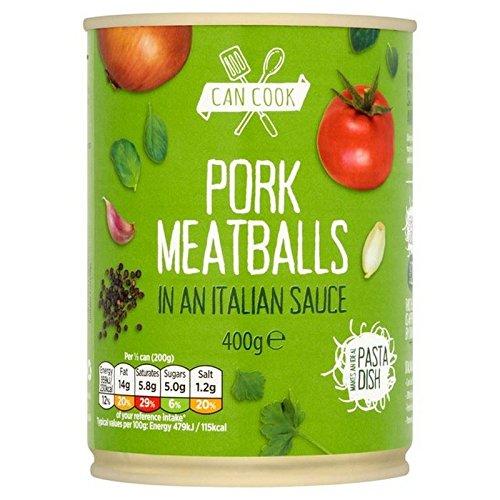 Puede Cocinar Albóndigas De Carne De Cerdo En Una Salsa Italiana 400G (Paquete de 2