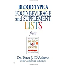 Amazon catherine whitney blood type diets diets weight blood type a food beverage and supplemental lists from eat right 4 your type fandeluxe Images