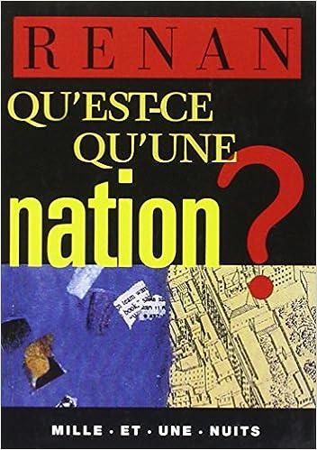 En ligne téléchargement gratuit Qu'est-ce qu'une nation ? pdf