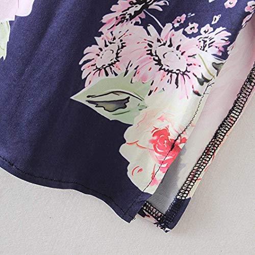 Stampa Sciolto Estivi Allentato Cardigan Kimono 1 Fiore Giuntura Manica Battercake Outwear Lunga Casuale Eleganti Donne Dunkelblau Vintage Fashion Giacca Pizzo Donna 6ZcvaqI