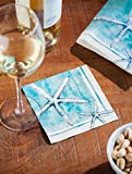 """#4: Cypress Home Sea Life Paper Cocktail Napkins, 20 count - 5""""L x 5""""H"""