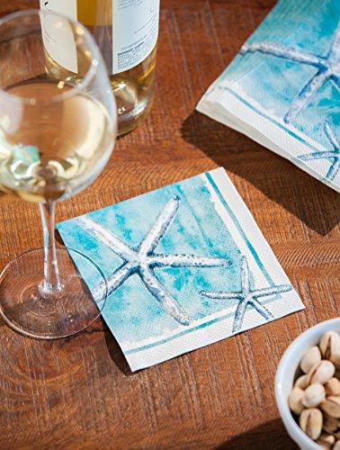 "Cypress Home Sea Life Paper Cocktail Napkins, 20 count - 5""L x (Sea Life Paper)"