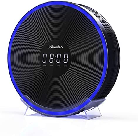 UNbeaten Air Purifiers for Home Bedroom Clock with Medical Grade H1N1 H13 True Hepa Filter, Odor Eliminators Office Cleaner Removes Allergies and Pets Dander Smoke Dust Mold, Night Light Ferris 360