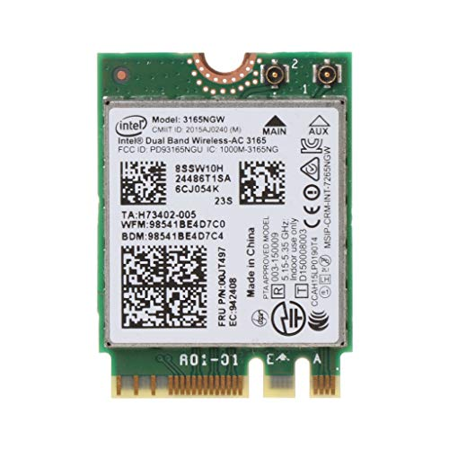Carise Intel 00JT497 3165NGW Wireless-AC Dual Band for Lenovo ThinkPad Bluetooth WiFi IBM Card Laptop NGFF WLAN