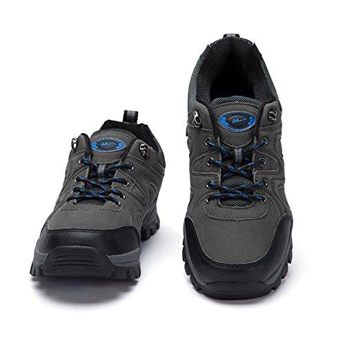 Herren Freizeitschuhe Dress Bergsteigen Herbst Outdoor Dämpfung Sport Schuhe Rutschen Schwarzbraun Grau