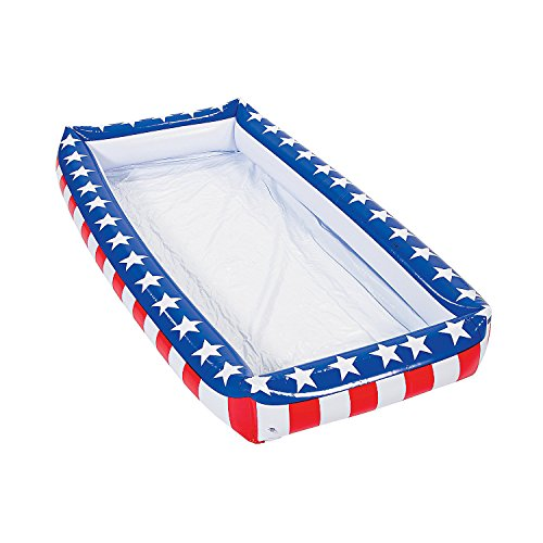 Fun Express - Patriotic Inflatable Buffet Cooler for Indoor/Outdoor -
