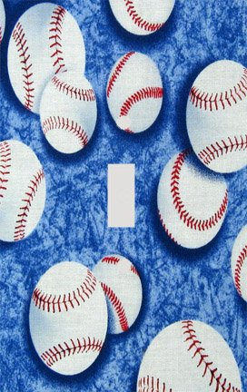 Baseball Collage Switchplate - Switch Plate Cover