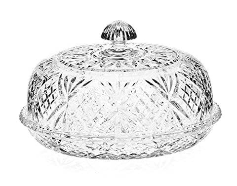 Dublin Collection Crystal Covered Pie Dome - Crystal Platinum Cake Stand