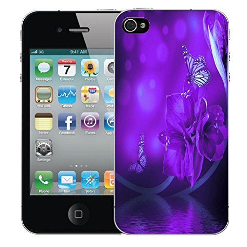 Mobile Case Mate iPhone 5 clip on Dur Coque couverture case cover Pare-chocs - water flower Motif avec Stylet