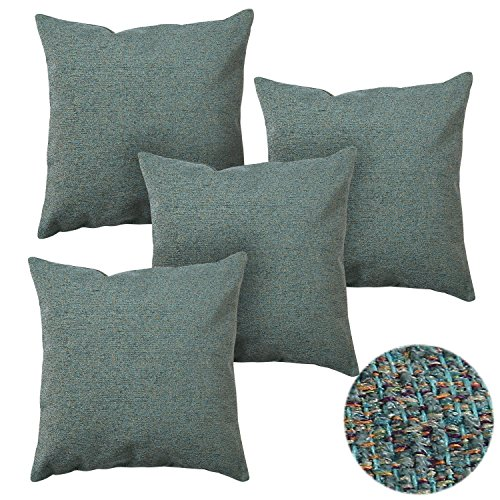 Deconovo 4 Pack Chenille Cushion Cover Pillow Cases Decora