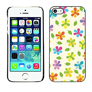 LASTONE PHONE CASE / Slim Protector Hard Shell Cover Case for Apple Iphone 5 / 5S / Cool Beige Colorful Pattern Green