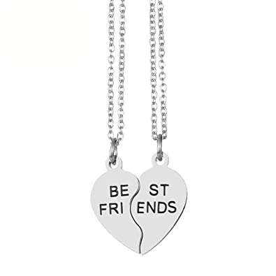 Amazon Jjtzx Her One His Only Broken Heart Necklace Best