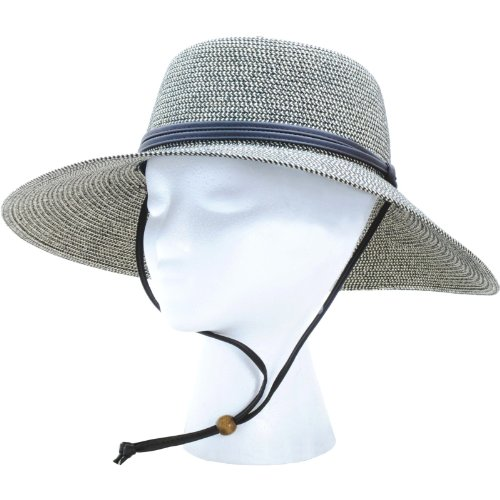 Sloggers Women's  Wide Brim Braided Sun Hat with Wind Lanyard - Sage - UPF 50+  Maximum Sun Protection, Style 442SG