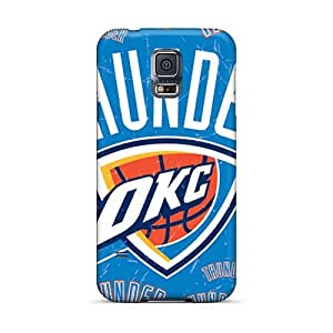 High Quality Phone Cases For Samsung Galaxy S5 With Custom Colorful Oklahoma City Thunder Pictures Top10cases