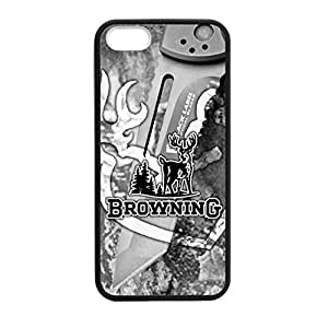 Browning Camo Deer for iPhone 5 5s Case Cover 037834 Rubber Sides Shockproof Protection with Laser Technology Printing Matte Result