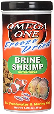 Omega One Freeze Dried Brine Shrimp 1.28 Oz by Omega Sea, Ltd.