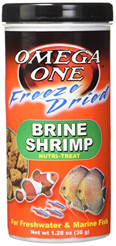 51UURFCnFpL - Omega One Freeze Dried Brine Shrimp 1.28oz.