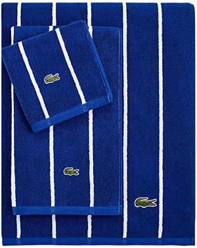 Lacoste Sport Stripe Bath Towel, Surf Blue