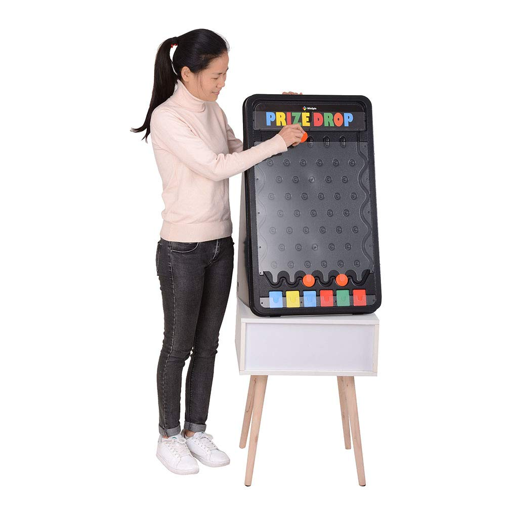 WinSpin 30'' Prize Drop Plinko Board Disk Drop Game Customizable 6 Slots with 10 Pucks for Carnival Tradeshow Party