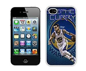High Quality iPhone 4 4S Case ,Cool And Fantastic Designed Case With Golden State Warriors Stephen Curry 4 White iPhone 4S Cover
