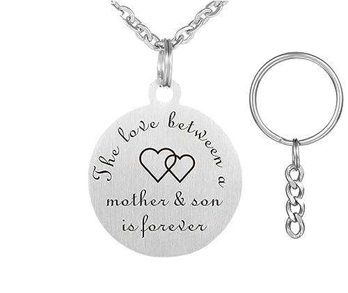 Amazon.com: LF collar de madre e hijo personalizado llavero ...