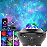 Night Light Star Projector,Amouhom Smart WiFi Galaxy Bedside Lamp with Bluetooth Speaker,Compatible with Alexa & Google Home, Remote & 21 Lighting,Gift for Kid Adult, Bedroom,Living Room(WiFi)