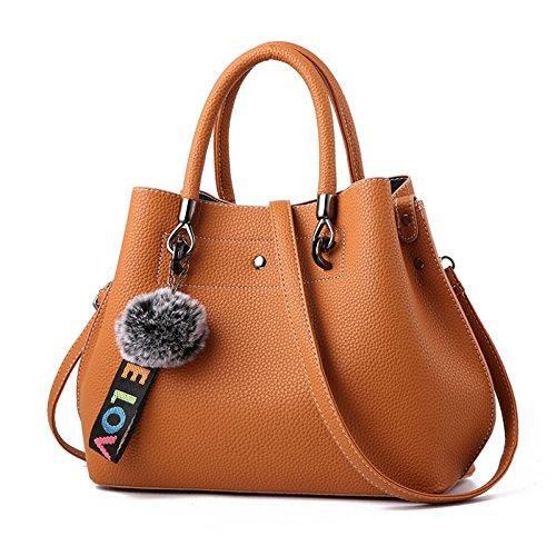 La Bolsa De Asas De Las Mujeres Italian Designer Fashion Ladies Handbags Elegante Bolso De Hombro De Cuero De La PU Casual Negro Azul Marrón