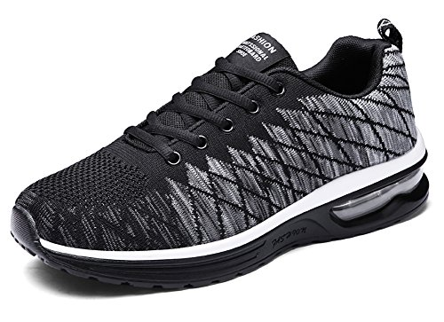 No.66 Town Womens Mens Flyknit Athletic Running Shoes Air Fitness Gym Jogging Lover Sneakers Size 10/8.5 Grey