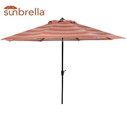 Sunbrella 9u0027 Patio Umbrella Aluminum Market Table Umbrella Huge 9 Foot  Aluminum Auto Tilt Crank