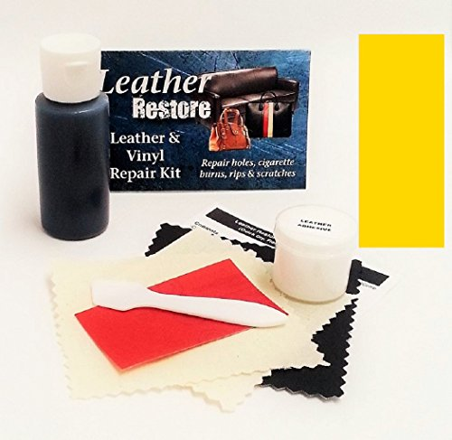 Leather Repair Kit with READY TO USE Color, YELLOW (Yellow Patent Footwear)