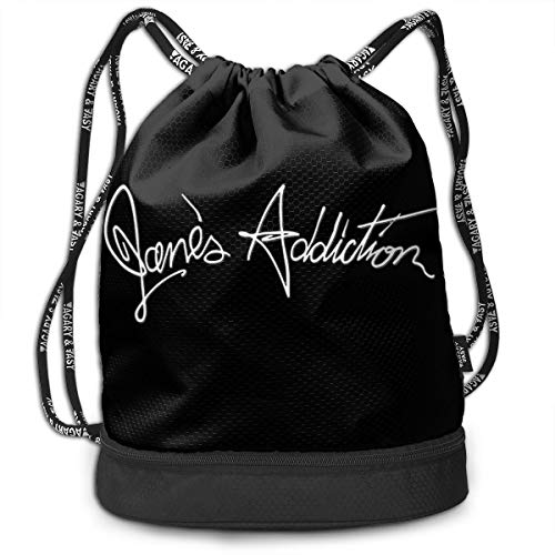 Jane's Addiction Drawstring Backpack Sports Athletic String Bag Offers Countless Uses