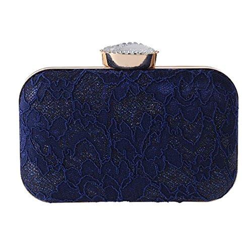 EPLAZA Women Lace Evening Clutch Bags Party Handbags Vintage Bridal Wedding Purse (deep (Oversized Vintage Clutch)