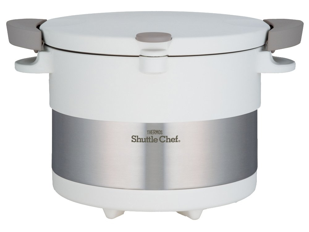 Thermos Vacuum Insulation Cooker Shuttle Chef 3.0l Pure White Kbc-3001 Pwh