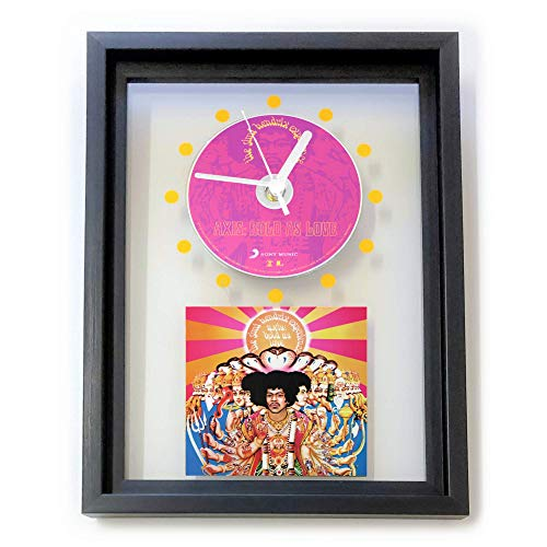 THE JIMI HENDRIX EXPERIENCE - Axis: Bold as Love, FRAMED CD ART CLOCK/Exclusive Design