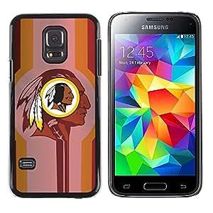 EJOY---Cubierta de la caja de protección la piel dura para el / Samsung Galaxy S5 Mini, SM-G800 / --Indian Halcón Negro Fútbol