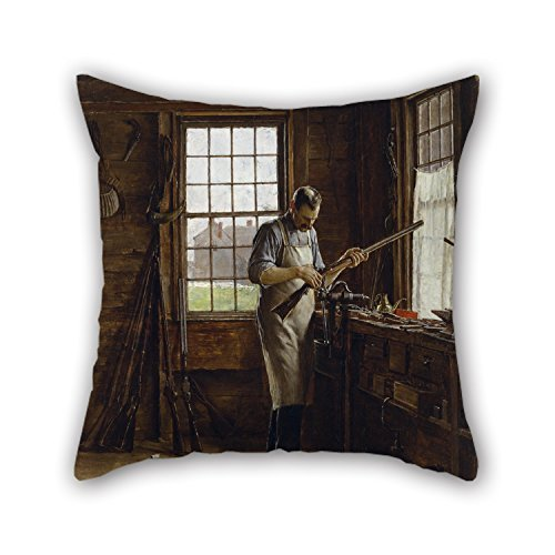Biekxrso The Oil Painting Edgar Melville Ward - The Gunsmith Shop Pillowcase of 18 X 18 Inches/Decoration Gift for Office Kids Girls Dinning Room Sofa Her -
