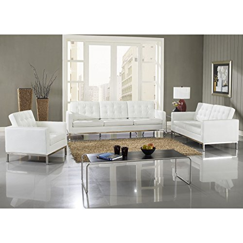 LexMod Loft 5 Piece Sofa Set in - Leather Sofa Set Loft