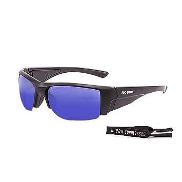 OCEAN SUNGLASSES Guadalupe - lunettes de soleil polarisÃBlackrolles - Monture : Noir Mat - Verres : Revo Bleu (3501.0) UShZlC