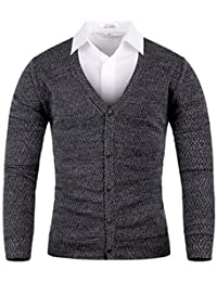 Men's Mosaic Basic Knit Cardigan Sweater Jumper Top