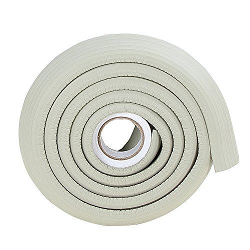 2M/6.5ft Wood Door Edge Protectors Marble Sink Edge Guard Corner Cushion for Metal Kitchen Cabinets Grey -
