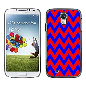 Dragon Case - FOR Samsung Galaxy S4 - Blue and red big waves - Caja protectora de pl??stico duro de la cubierta Dise?¡Ào Slim Fit
