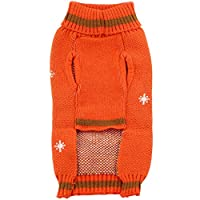 Bolbove Pet Cute Owl Cable Knit Turtleneck Sweater for Small Dogs & Cats Holiday Knitwear Cold Weather Outfit