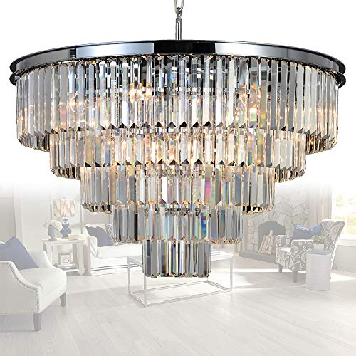Chrome And Crystal Pendant Lighting in US - 3