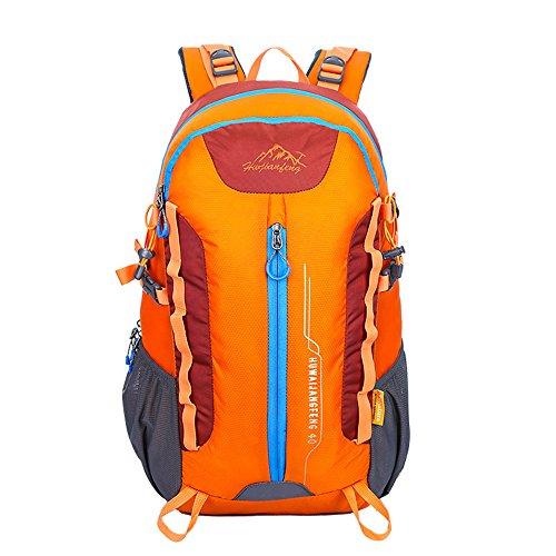 Wewod 40L Daypacks Mochila Deportes al aire libre viajes de ocio Multifunción mochila hombro hombre impermeable de alta capacidad alpinismo bolso de hombro 32 x 50 x 22 cm (L*H*W) (Azul) Naranja