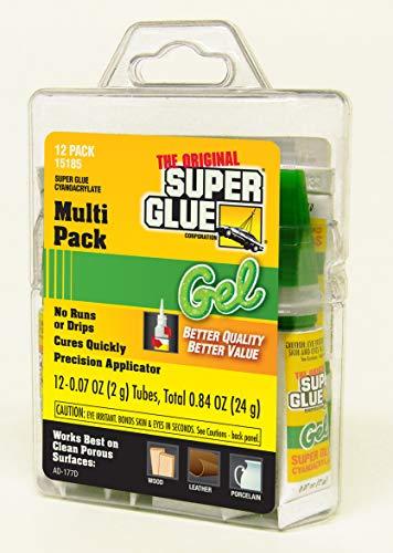 (Super Glue 15185 Gel, 12-Pack, .07oz tubes)