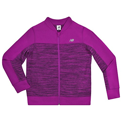 New Balance Kids Big Girls' Athletic Full Zip Jacket, Poisonberry/Black, 14 by New Balance
