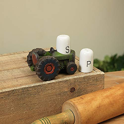 Farmhouse Tractor with Ceramic Salt & Pepper Shakers