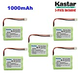 Kastar 5-PACK AAA 3.6V EH 1000mAh Ni-MH Battery for Motorola MD-4260/7101/7151/7161/7251//261/761/781/791/7101/7151/7161 SD4501/4502/4550/4551/4561/4581/D4591 SD7500/7501/7502/7561/7581 etc.
